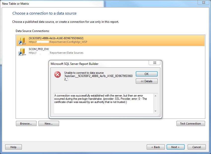 Report Builder Cant Connect To Sql Server Sccmhaas